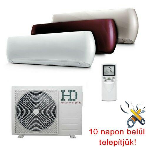HD HDWI-DSGN-90C bordó/arany/fehér  2,5 kW, inverteres design klíma