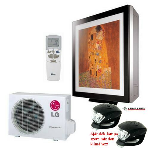 LG A09FR GALLERY inverteres klíma 2,5 kW, hűtő-fűtő