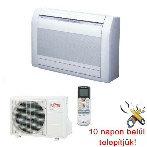 FUJITSU AGYG09LVCA/AOYG09LVCA inverteres klíma 2,6 kW, hűtő-fűtő, parapet