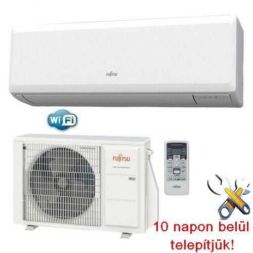 FUJITSU ASYG12KPCA/AOYG12KPCA wi-fi opciós inverteres klíma 3,4 kW, hűtő-fűtő