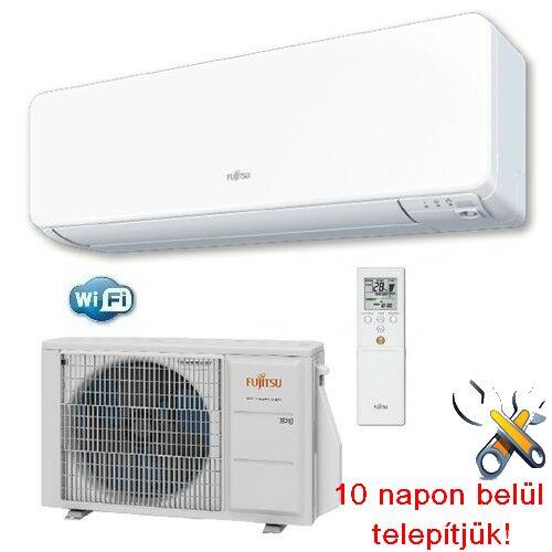 FUJITSU ASYG12KGTB/AOYG12KGCA inverteres klíma 3,4 kW, hűtő-fűtő